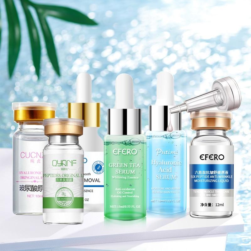 Collagen Serum+Six Peptides Serum +Argireline Hyaluronic Acid Serum Anti-Aging Moisturizing Skin Care Whitening Face Cream