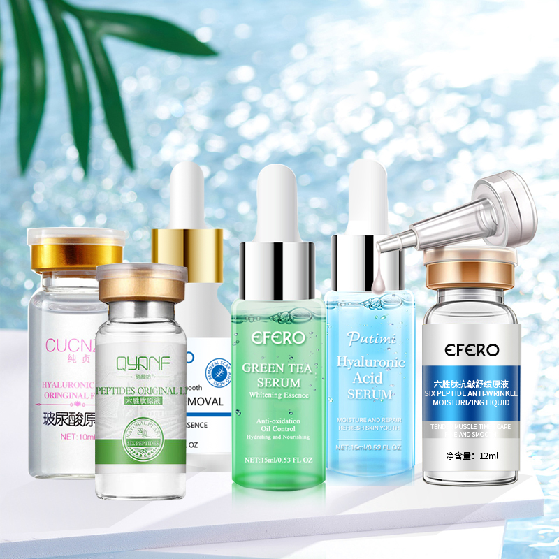 Collagen Serum+Six Peptides Serum +Hyaluronic Acid Serum Anti-Aging Moisturizing Skin Care Whitening Face Cream