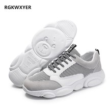 RGKWXYER Men Casual Shoes Lightweight Breathable Flats lace up Running Mesh Student Sneakers 2019