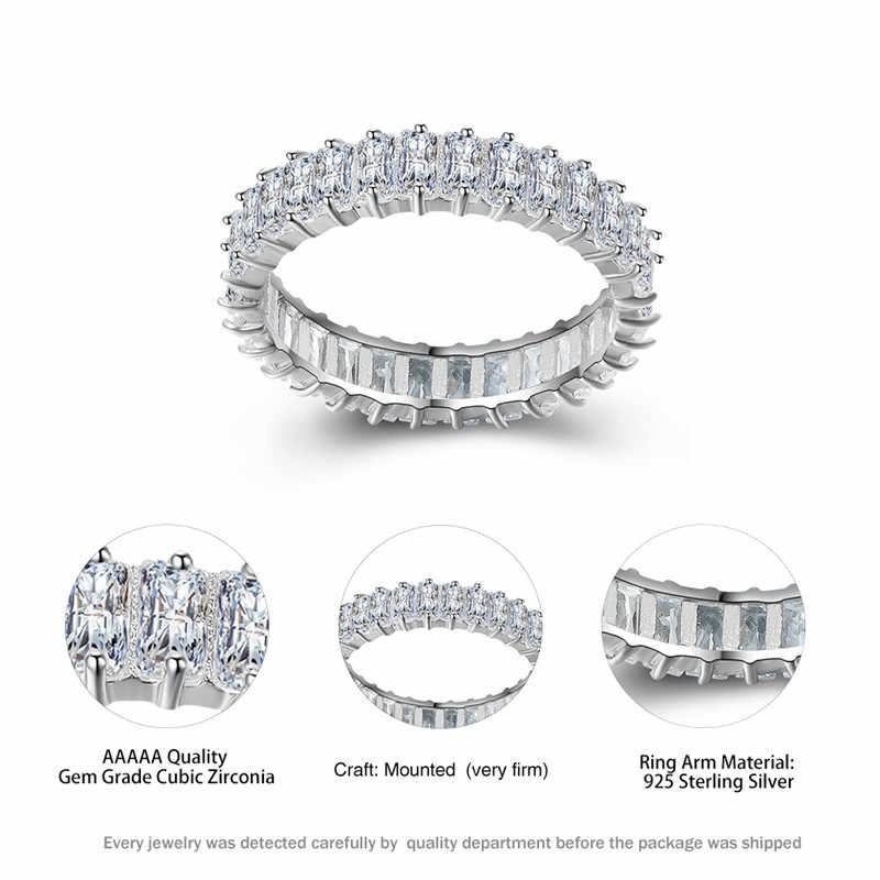 Милый женский маленький квадратный белый циркон кольцо 100% Настоящее серебро 925 Обручальное кольцо винтажное серебрянное кольцо для женщин