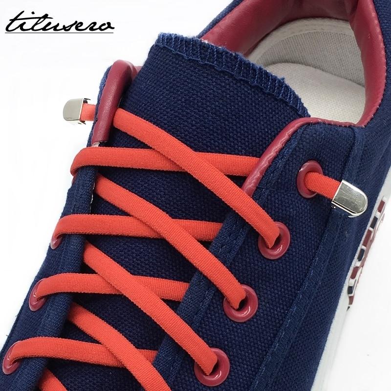 1pair New Quick Lazy Shoelaces Elastic Shoelaces Metal Buckle No Tie Shoe Laces F092