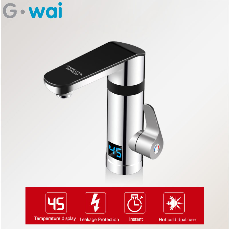 220V Instant Electric Hot Water Faucet Kitchen Bathroom 3 Seconds Fast Heating Hot And Cold With No Water Tank 3000W