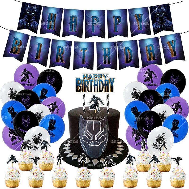 Liga da justiça pantera negra tema festa super herói balão látex balões crianças festa de aniversário decoração do chuveiro do bebê balões