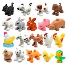 Игрушки животное большой размер здание блоки дупло собака кошка курица утка попугай свинья овца кролик аксессуары игрушки для детей подарки