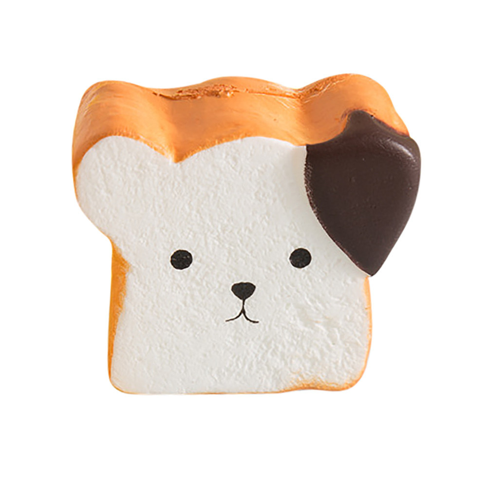 Simulate Adorable Dog Bread Decompression Slow Rebound Toy Relieve Stress Cure Toast Gift Kitchen And Dining Table Display Toy#A
