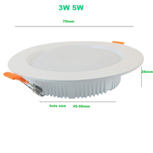 LED Recessed Downlights 9w 12w 3W 5W 7W Down Lamps 220V SMD 5730 Spot Indoor Ceiling Panel Lighting