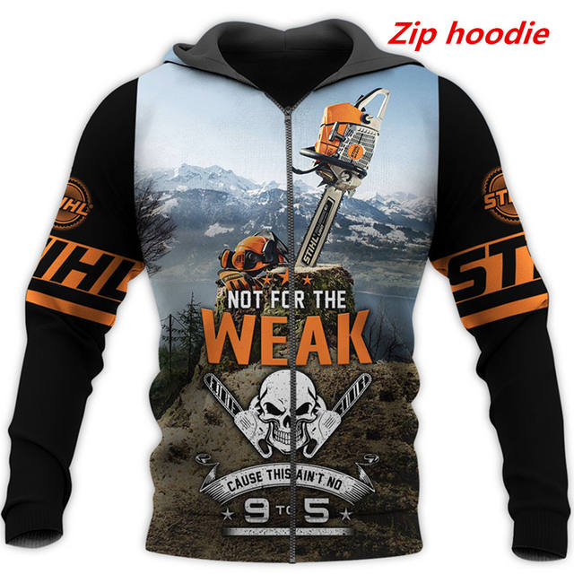 CHAINSAW SKULL 3D HOODIE
