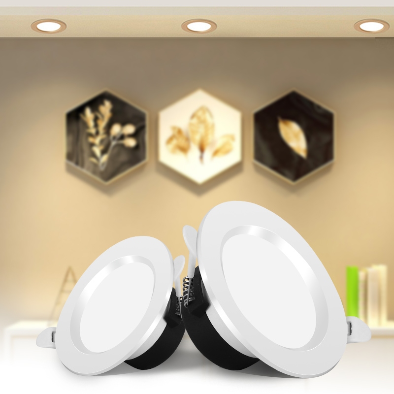 LED Downlight 220V 5W 7W 12W 18W Recessed Round Led Spot Light Fixture 2.5/3/4/6 Inch Downlights For Home Lighting White/Warm