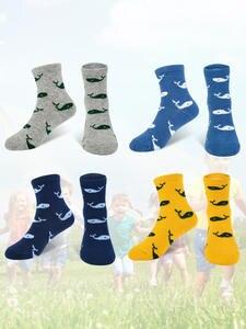 Cartoon-Pattern Girls Socks Baby-Boy-Girl Boys Cotton 5-Pair/Lot Cute New Soft for 7