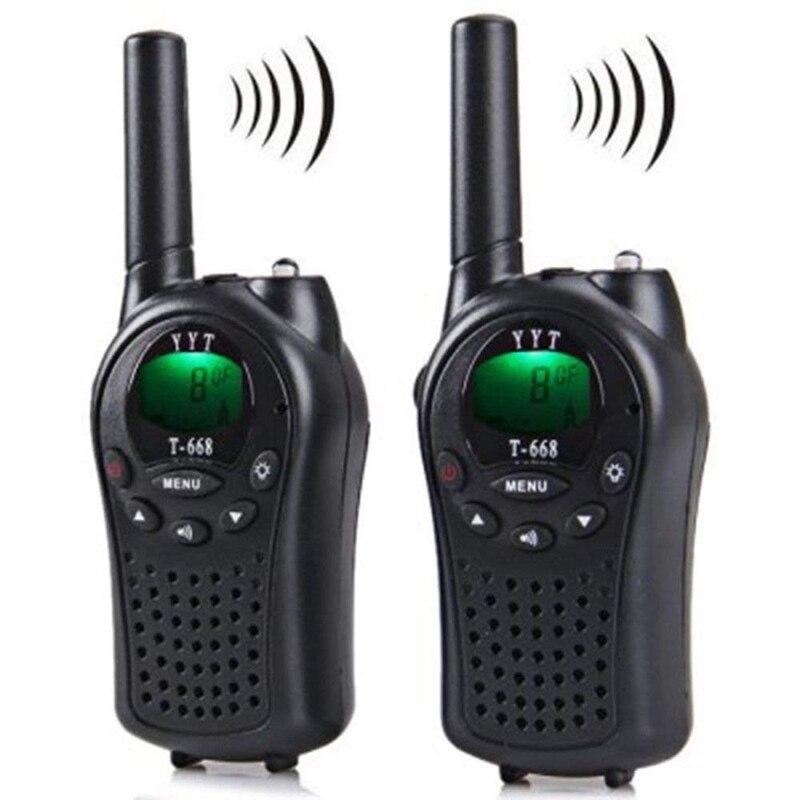 ABKK-Two Way Radio Walkie Talkie 2 Pieces T-668 Handheld Auto Multi Channel 5KM