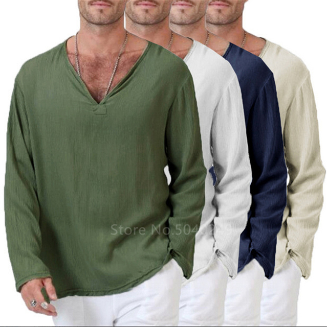 Long Sleeve V neck Tshirt 4