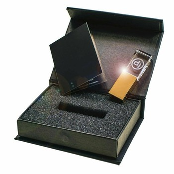 New Crystal Gold DJ Hot seller USB 2.0 Memory flash stick pen drive with box