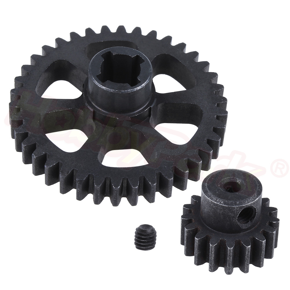 1 Piece Steel Metal Diff Main Gear 38T / Motor Pinion Gear For WLtoys A959 A949 A969 A979 K929 1/18 RC Car Spare Parts