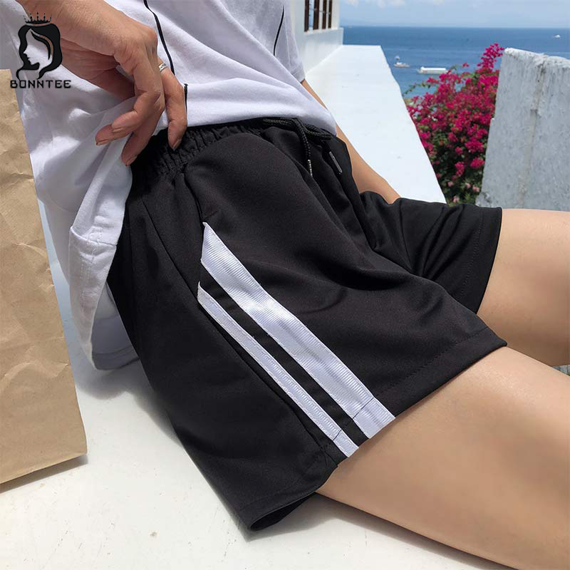 Shorts Loose Striped Drawstring Women Short Korean Style Pockets Sweet School Student Bodybuilding Womens Lovely Summer Fashion