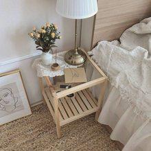 Solid Wood Coffee Table Ins Nordic Simple Sofa Side Table Bedside Table Simple Coffee Table Furniture Bedroom