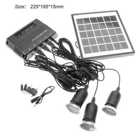 lampada de iluminacao sistema painel solar casa