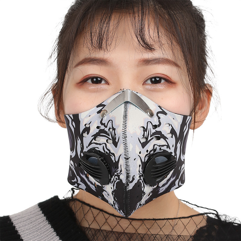 Anti Dust Mask Men Women Anti PM2.5 Black Breathable Valve Mask Filter Respirator 3D Mouth Mask Bicycle Face Mask