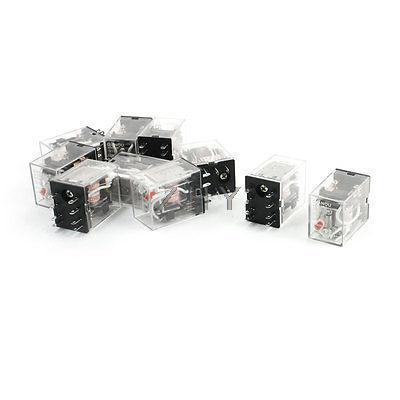 10pcs HH52P 50/60HZ AC 220/240V Coil DPDT 8 Pin Electromagnetic Power Relay
