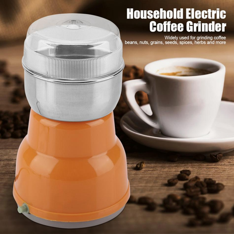 XMX-Electric Stainless Steel Coffee Bean Grinder Home Grinding Milling Machine Coffee Accessories-Eu Plug