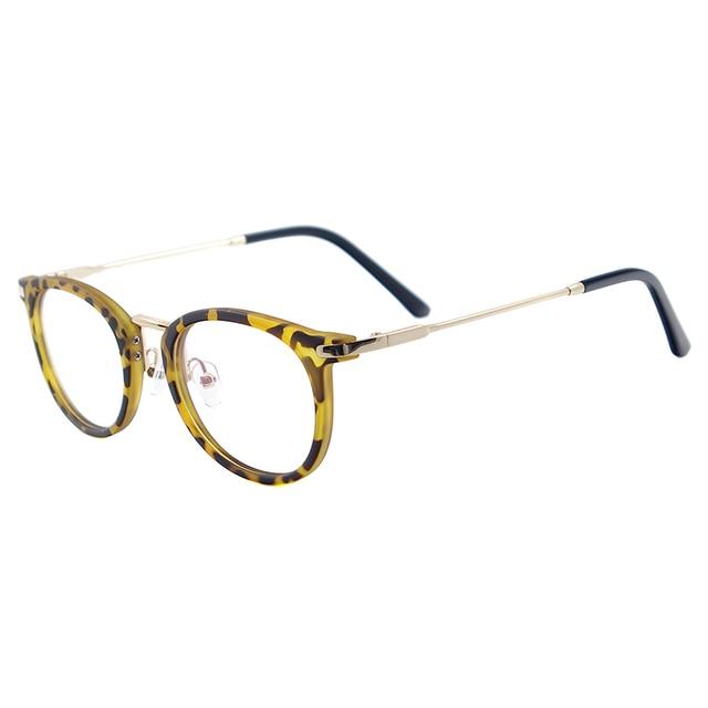גברים ונשים קל בציר משקפיים עגול פלסטיק מתכת משקפיים עבור מרשם עדשות קוצר ראיה קריאת Multifocal