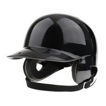 Ватный шлем NOCSAE Cert. Pro Бейсбол/Софтбол шлем двойной лоскут-черный