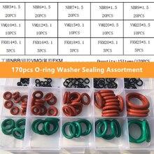 170 шт/компл уплотнительное кольцо шайба герметичность разный