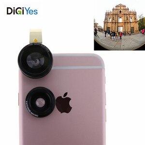 Объектив рыбий глаз и макрообъектив супер широкоугольный объектив для мобильного телефона Комплект для объектива камеры металлический за...