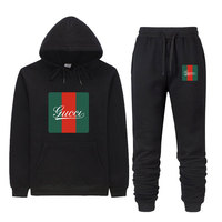 2019 Hoodies+Sweatpants De Marque Guccy 2 Piece Set Women Jogging Tracksuit Men Set Track Suit Moletom Bodybuilding Tracksuits
