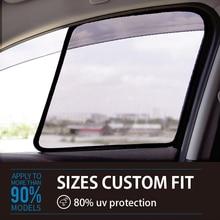 2PCS Magnetic Car Front Side Window SunShades Cover For Volkswagen Phideon Sharan Magotan Sagitar 2012-2018 car curtain