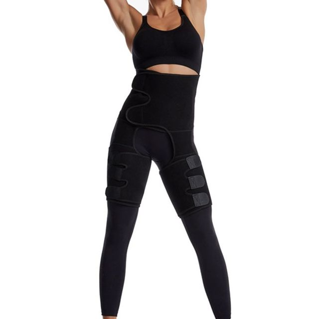 Waist Leg Trainer Women Thigh Trimmer Leg Shapers Slender Slimming Belt Neoprene Sweat Slim Shapewear Toned Muscles Slimmer Wrap 2