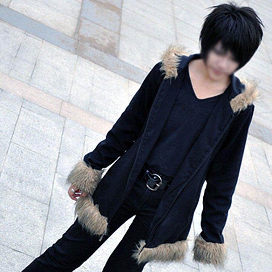 Durarara Izaya Orihara Black Coat Jacket Sweatshirts Tops Cosplay Costume Unisex