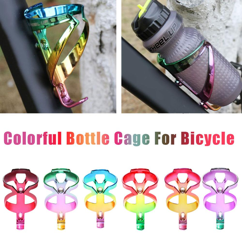Colorful Bicycle Water <font><b>Bottle</b></font> Holder High Strength Rainbow MTB Road <font><b>Bike</b></font> Water <font><b>Bottle</b></font> <font><b>Cage</b></font> Cycling Accessories image
