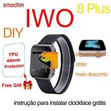 Smochm IWO 8 Plus DIY новые умные часы Bluetooth 1:1 Series 4 Беспроводное зарядное устройство MTK2502 обновлено для Apple Watch iPhone Android