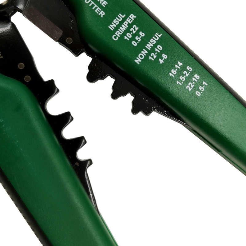 HS-D1 crimper cabo cortador de fio automático stripper multifuncional descascamento ferramentas friso alicate terminal 0.2-6.0mm2 ferramenta