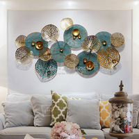 Creative Metal Wrought Iron Art Decorative Light Luxury Wall Deco Fashion 3D Living Room Sofa Background Wall Decoration