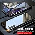 Магнитный металлический бампер флип чехол для samsung note 10 plus закаленное стекло Передняя Задняя крышка для Galaxy note 10 pro note10 10 + чехол