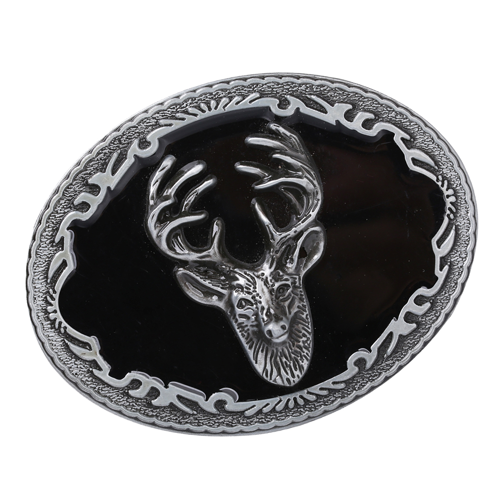 Belt Buckle Deer Pattern Elk 3D Cowboy Western Vintage For Men