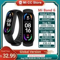Globale Version Xiaomi Mi Band 6 Blut Sauerstoff Fitness Traker Herz Rate Monitor 1.56