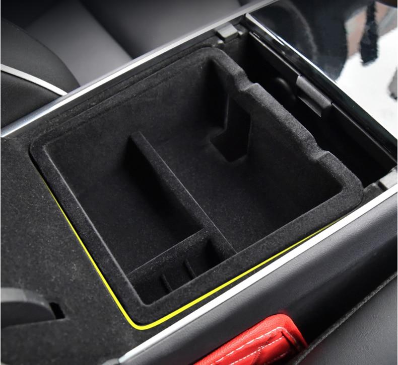 Central storage box for Tesla model 3 accessories car accessories model 3 tesla three tesla model 3 carbon accessoires
