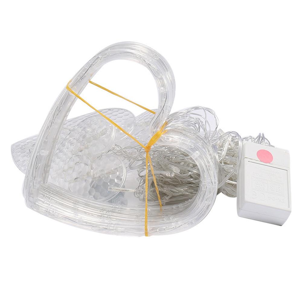 Heart Shape Fairy String Light 2.5M Super Bright Lamp String 8 Modes Home Romantic Curtain Lamp Garden Wedding Neon Lantern