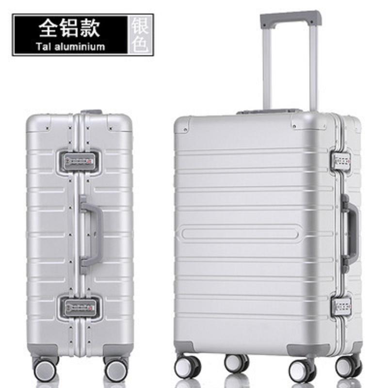 100% Aluminum-magnesium Alloy Material High Quality 20/24/28 Size Travel Luggage Spinner Brand Travel Suitcase
