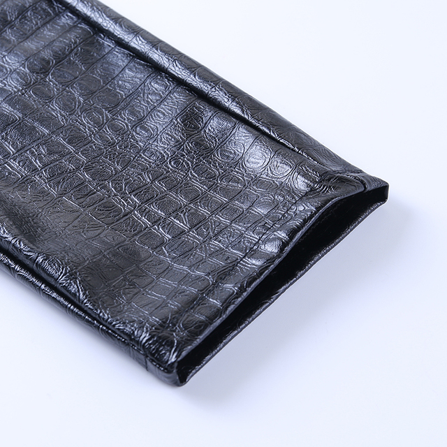 Leather PU Hamer Pants with belt in black