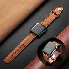 Ремешок кожаный для apple watch 4 3 2 1 38 мм 40 коричневый
