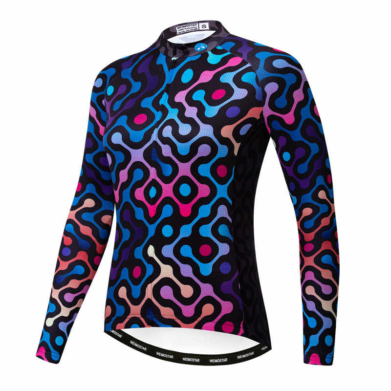 Long Sleeve Summer Autumn Cycling Jerseys women Team Bike Sports Clothing Top