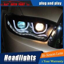 Headlights For Toyota Highlander 2008 2011 LED/Xenon Low Beam High Beam LED daytime running light sequential turn signal model 1