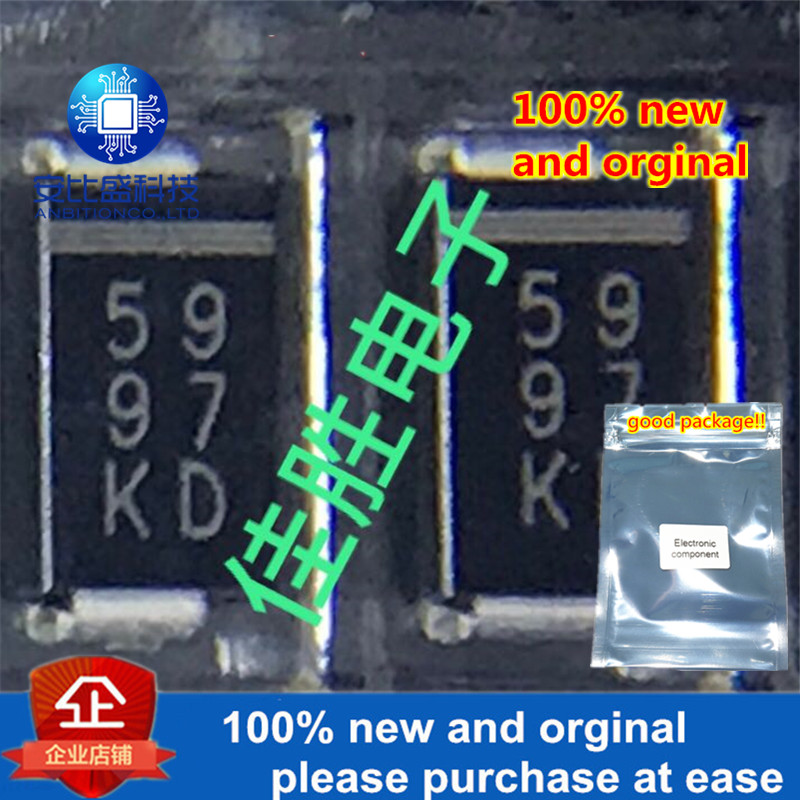 50pcs 100% New And Orginal TVs Protection Diode DO214AC Silk-screen 5997 Jpg In Stock