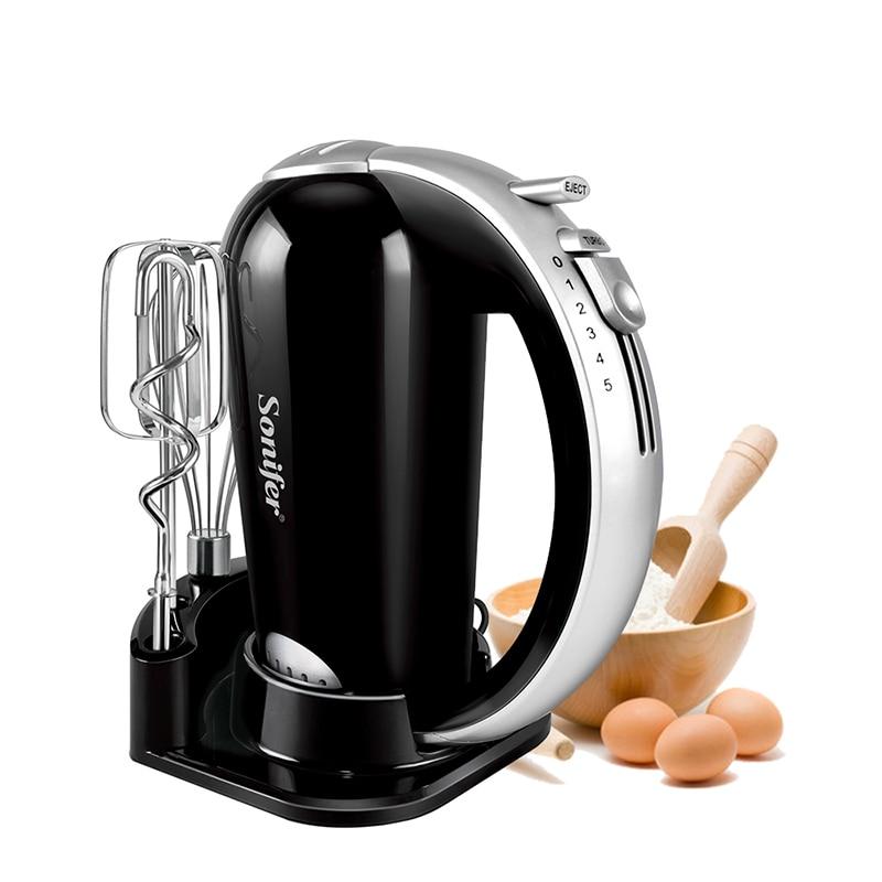 H798beed186e44843a08d8df7db56bdfaZ 5 Speeds 300W Stainless Steel Food Mixers Dough Mixer 220v High Quality Dough Blender Egg Beater Hand Mixer For Kitchen Sonifer