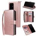 Кожаный чехол-бумажник на молнии для Samsung Galaxy S21 Ultra S20 FE S10 S9 S8 Plus Note 20 10 A21S A51 A71 A40 A50 A70