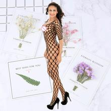 Women Sexy Lingerie Stockings big Fishnet Tights Transparent Pantyhose plug size Embroidery net