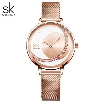 Shengke Crystal Lady Watches Luxury Brand Women Dress Watch Original Design Quartz Wrist Creative Relogio Feminino - discount item  62% OFF Women's Watches